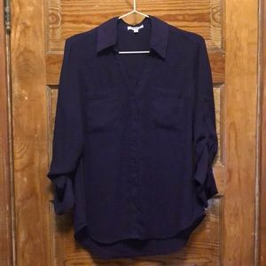 Dark purple Express portofino shirt/blouse
